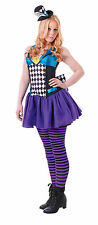GIRLS MAD HATTER COSTUME AGE 11-14 ALICE IN WONDERLAND PARTY BOOK WEEK OUTFIT