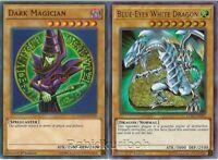 Yugioh Blue-Eyes White and Dragon Dark Magician - Ultra Rare Lot Set