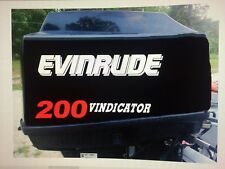 2 - 17 inch Evinrude vindicator 200 Outboard marine vinyl PORT / STARBOAR decals