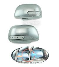 CHROME MIRROR COVER LED FIT TOYOTA HILUX VIGO SR5 MK6 FORTUNER INNOVA 2005-2014