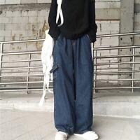 Femmes Harajuku Cargo Baggy Pantalon Dragon Imprimé Loose Tapered Punk