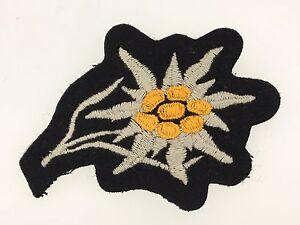 German Army WW2 Gebirgsjager Mountain Troops cloth ski cap edelweiss badge BLACK