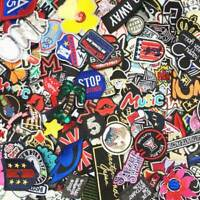 80PCS Random Wholesale mixed Lot Sew on Embroidered patches Badge DIY Cloth