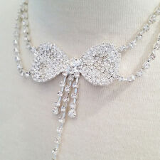 Sexy Rhinestone Body Chain with a Bow Shape Choker