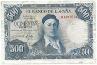 500 pesetas 1954 M. Zuloaga @@  bello @@