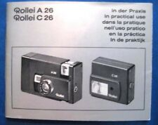 Instruction Manual for Rollei A 26 & C 26 Original Vintage