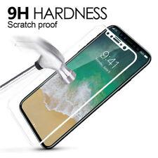 Pour Apple iPhone X - 5D arrondi Full Cover Protection d'écran verre trempé/Blanc