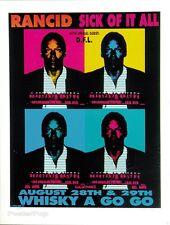 MG07 RANCID SICK OF IT ALL OJ Original Silkscreen Poster M.Getz 1994 Signed Mint