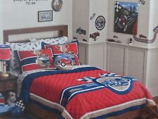 3 pc Circo Vintage Car Collection Full / Queen Quilt & Shams Set NIP