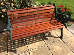 Replacement Garden Bench Slats Hardwood Sapele or Treated Redwood,Fixings extra