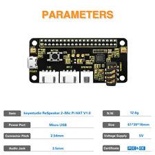 New ReSpeaker 2-Mic Pi HAT 1.0 Expansion Board for Raspberry Pi Zero W B+ 2B 3B