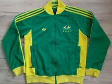 BRAZIL BRASIL! ADIDAS track jacket sweatshirt top zip! 5/6 ! M - adult!