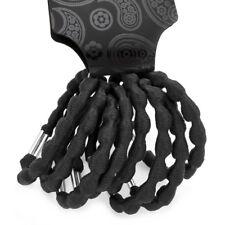 8 De Espesor Negro Trenzado Cuerda trenzado en cuero tejido de pelo elásticos bandas Motas Ponio