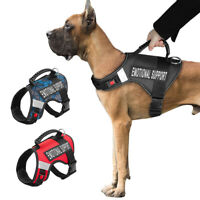Emotional Support Dog Harness Reflective Mesh Vest ESA Therapy Service 2 Patches