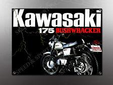 VINTAGE KAWASAKI 175 BUSHWACKER  IMAGE BANNER NOS IMAGE REPRODUCTION
