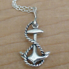 Anchor Necklace - 925 Sterling Silver - Anchor Charm *NEW* Nautical Sailor Beach