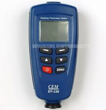 New CEM DT-156 Paint Coating Thickness Gauge Tester F/NF Probes 1250um