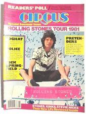 Vinta 1981 CIRCUS MAGAZINE Music NEWS Souvenir Issue ROLLING STONES Police