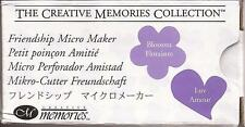 CREATIVE MEMORIES FRIENDSHIP MICRO Maker Punch New Blossom and Luv  Love Heart