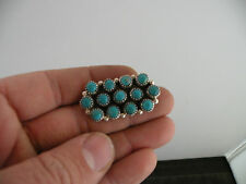 Turquoise Sterling pin, brooch-Tom Begay Native American grade A+ petit point