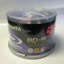 50 Ridata Valor Up to 10x 25GB BD-R White Inkjet HUB Printable Blu-Ray Disc