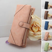 Fashion Women Lady Clutch PU Leather Long Wallet Lady Card Holder Purse 5Colors