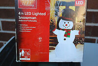 4 Ft. LED Lighted Inflatable Airblown Snowman with Hat X942