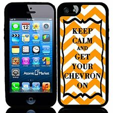 Orange Keep Calm and Get Your Chevron On For Iphone 6 Case Cover