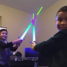 New Rainbow Laser Sword Extendable Light Up Toys Flashing Wands Led Sticks Party
