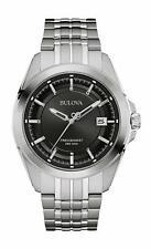 Bulova 96B252 Precisionist Silver Tone Black Dial Mens Ultra High Freq Watch