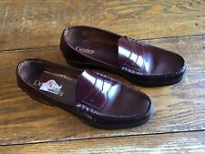 697fc1aa09e DEXTER Vintage Burgundy Handsewn Penny Loafers 11 1 2 D Leather Sole P-640