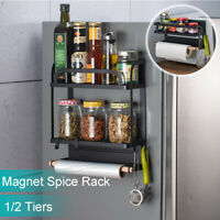Kitchen Magnetic Organiser Rack Fridge Side Shelf Storage Holder Hook Save