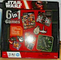 Disney Star Wars 6 in 1 Games Family Board Game - Bingo, Dominoes, Battle etc