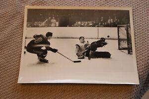 1950's Buffalo Bisons/Springfield Indians hockey 7x9 ORIGINAL press photos #2
