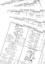 1959 EDSEL RANGER CORSAIR VILLAGER WAGON 59 PART & NUMBERS LIST CRASH SHEETS! RE