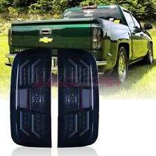 Winjet OE Fit For 2014-2017 Chevy Silverado 1500 LED Brake Tail Lights Smoke