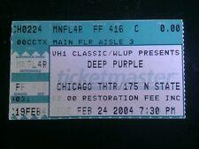 Deep Purple Ticket Stub 2/24/2004 Chicago Theatre MAKE AN OFFER!