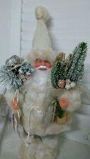 NEU Weihnachtsmann Santaclaus Nikolaus Ski Shabby Landhaus Creme