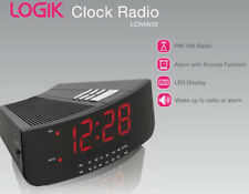 Radio Alarm Clock LOGIK LCRAN12  LED display, snooze function. Black