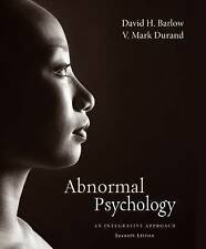 Abnormal Psychology: An Integrative Approach 7e  By  Barlow (3 Days to AUS)