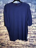 CALLAWAY GOLF Mens Blue Crew Neck Golf Tee Size L Dark Blue Rare