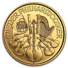2017 1/20 oz Gold Austrian Philharmonic Coin Brilliant Uncirculated BU