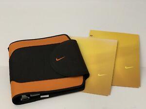 Vtg 90's Nike Mead Binder Trapper Keeper 3 Ring Organizer Black Orange 2 Folders