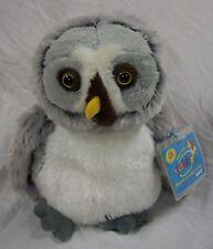 """Ganz Soft Gray Owl 8"""" Plush Stuffed Animal Toy New Webkinz"""