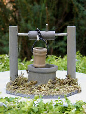 Miniature Dollhouse FAIRY GARDEN Furniture ~ Wood Wooden Wishing Well ~ NEW