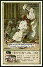 North Africa Algeria Street Barber Chez Le Ventouseur c1910 Trade Ad Card
