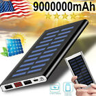 2021 Super Solar Power Bank 9000000mAh Battery Pack 2USB For Cell Phone US
