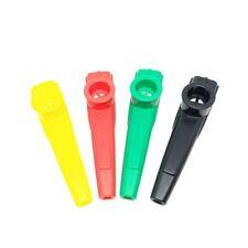 4Pcs coloré Plastique Kazoo Bouche Flûte Mini Kazoo Musical Instrument Lumière
