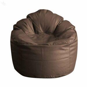 Comfort Bean Bag Cover Without Bean Brown Leatherette L-XXXL Home Decor Party