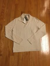 Charter Club 2-Ply 100% Cashmere Women's Sweater Medium Ivory V-neck With Collar
